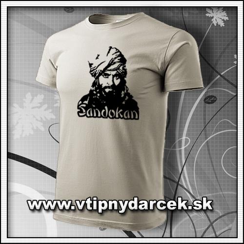 Retro tričko s potlačou Sandokan originálne narodeninové darčeky