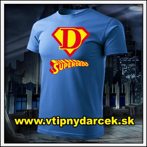 Rodinne tričká Superdedo ako vtipný darček pre deda či starého otca k narodeninám