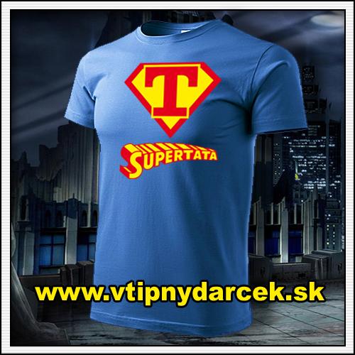 Rodinne tričká Supertata ako vtipný darček pre otca k narodeninám