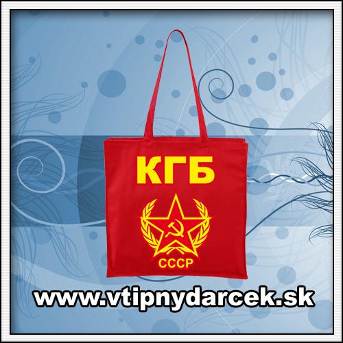 Orioginálne tašky s potlačou CCCP a KGB ako ruský darček