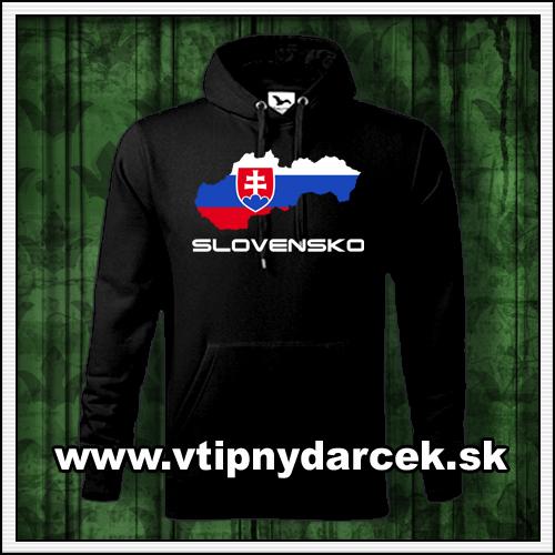 Pánske mikiny s potlačou Slovensko ako suvenír zo Slovenska