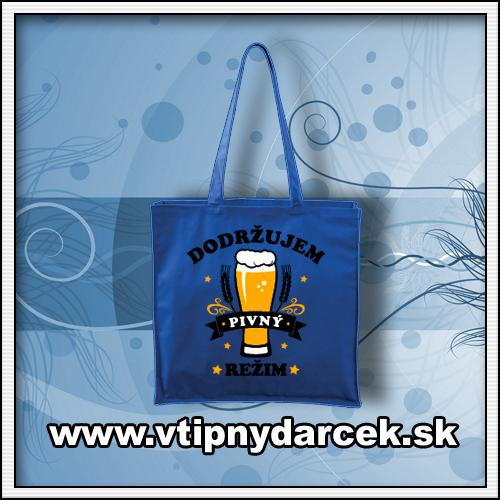 Vtipné tašky s vtipnou potlačou Dodržujem pivný režim ako vtipné darčeky pre muža