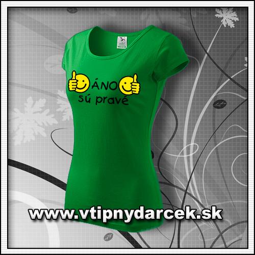 Vtipné dámske tričko prsia áno sú pravé vhodné ako originálne vtipné darčeky