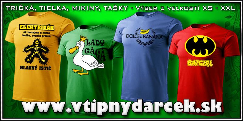 Originálne tipné tričká s vtipnou potlačou vhodné ako vtipné darčeky