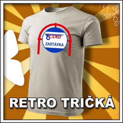 Retro tričko ČSAD zastávka ako moto retro darčeky pre muža a ženu k narodeninám
