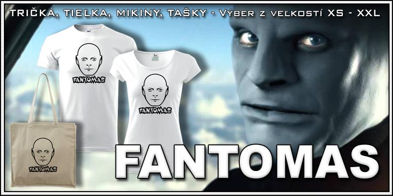 Retro tričko Fantomas ako retro darčeky pre mužov a ženy s Fantomasom