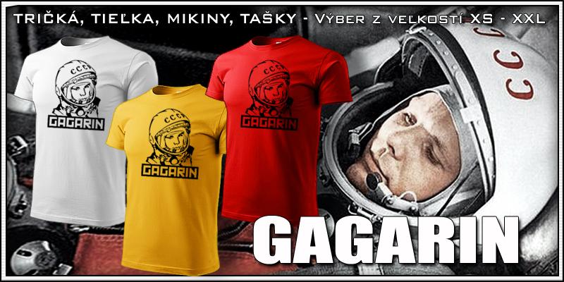 Retro tričko Gagarin ako retro darček k narodeninám pre muža a ženu