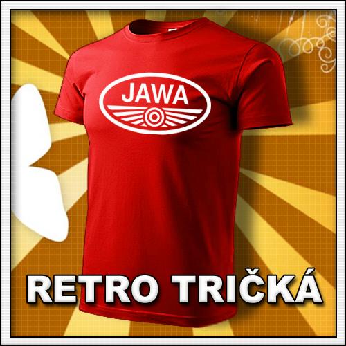 Retro tričko JAWA ako moto retro darčeky pre muža a ženu k narodeninám