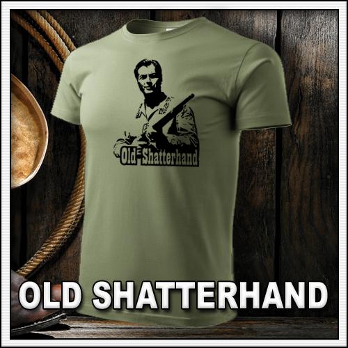 Retro tričko Old Shatterhand ako retro darček či tričká pre muža a ženu