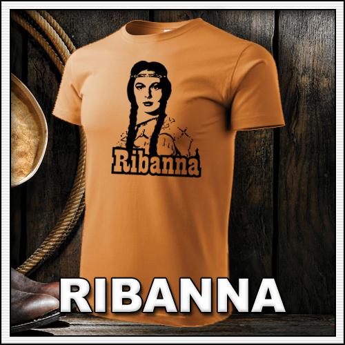 Retro tričko Ribanna ako retro darček či tričká pre muža a ženu