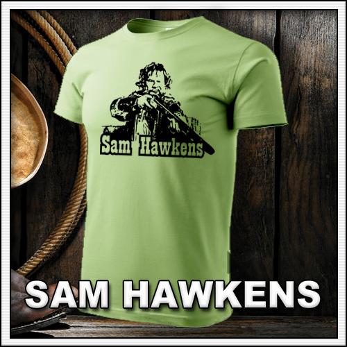 Retro tričko Sam Hawkens ako retro darček či tričká pre muža a ženu