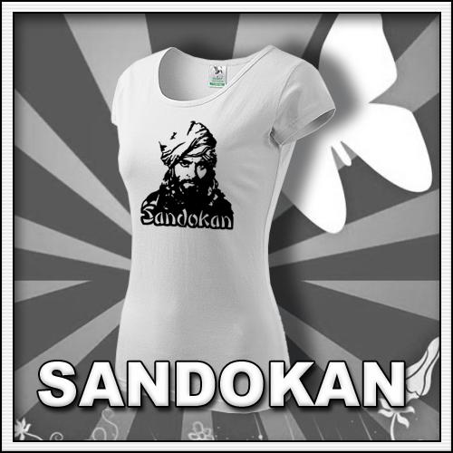 Dámske biele tričko Sandokan, retro tričká a retro darčeky pre ženy