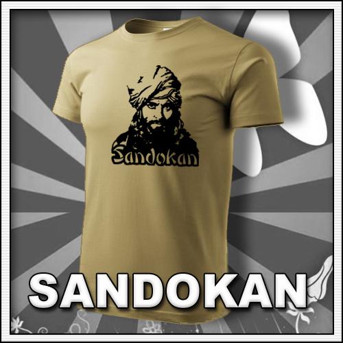 Pánske retro tričko Sandokan, retro darčeky a retro tričká pre mužov