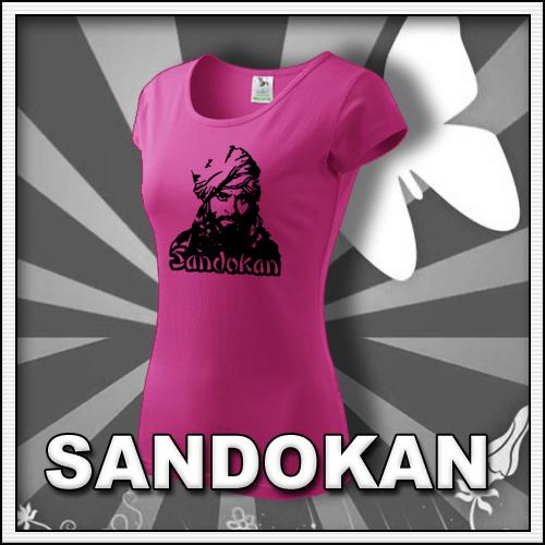 Dámske ružové tričko Sandokan, retro darčeky a retro tričká pre ženy