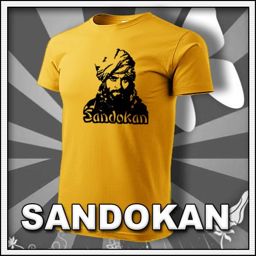 Pánske žlté tričko Sandokan, retro tričká a retro darčeky pre mužov
