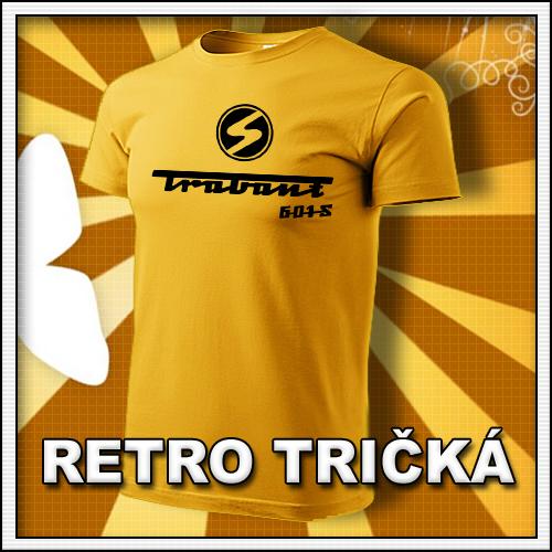 Retro tričko Trabant ako moto retro darčeky pre muža a ženu k narodeninám