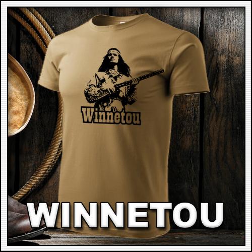 Retro tričko Winnetou ako retro darček pre muža a ženu